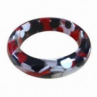 Bracelet, OEM Orders and Designs are Welcome, Made of Plastic/PU/Lace, Available in Various Colors Manufactures