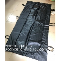 Body Bags, CE Death Body Bag For Virus Infected Patient Black Body Mortuary Bags For Dead Bodies Corpse Storage Bag Manufactures