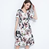 89D18008 Large Size Summer Fresh And Fashionable Cotton And linen Dress Manufactures