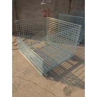 Wire Mesh Container with Removable Wheel Manufactures
