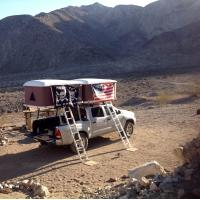 Double Big Foot Automatic Roof Tent , Jeep Hard Top Tent Streamlined Design Manufactures