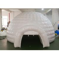 White Inflatable Igloo Tent Outside Diameter 4.8 Meter CE Certificated Manufactures
