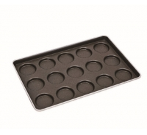 Aluminum Steel 3.5 Inch 15 Convex Hamburger Bun Baking Pan Manufactures