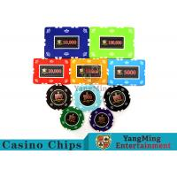 Circular / Square Shape Professional Poker Chip Set With 25 Pcs In A Shrink Roll Manufactures