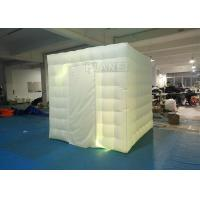 2.4x2.4x2.4m Small White Inflatable Party Cube Booth Tent With 2 Doors Manufactures