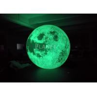 Colorful Changing Large Inflatable Moon Ball 3m Dia Customized Manufactures