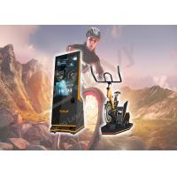 Indoor Playgrounds VR Bike Ride , Leke X-Rider Virtual Reality Exercise Equipment Manufactures