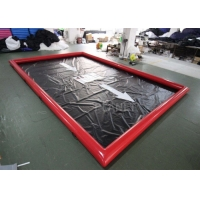Red 0.9mm Pvc Tarpaulin Car Wash Water Containment Manufactures
