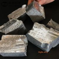 Buy cheap MgEr10 MgEr20 Magnesium Master Alloy Ingot Fit Improving Magnesium Alloy from wholesalers