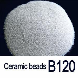 Solid Round B120 0.125mm Ceramic Blasting Beads For Aluminium Profile Manufactures