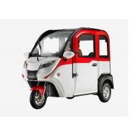 Smart 1200 W Mini Electric Car , 3 Wheels Adjustable Seat Cabin Electric Powered Cars Manufactures