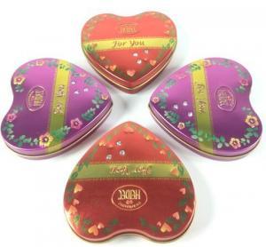 Metal Heart Tin Boxes Manufactures