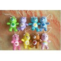 China Care Bears Plush Toy Keychain For Promotion Gifts , Red / Yellow / Purple / Brown on sale