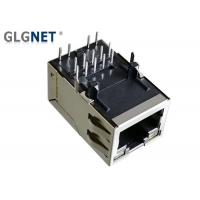Buy cheap 1G Magnetic Ethernet RJ45 Connector Tab Up RJ45 Modular Jack with Bi color LED from wholesalers