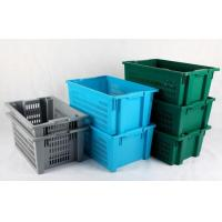 Transport Plastic Turnover Basket For Fruits and Vegetables products Manufactures