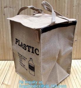 Lightweight collapsible jute fabric storage bin basket,Jute multifunctional moisture-proof debris storage basket desktop Manufactures