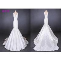 Straps satin mermaid wedding dresses bridal gowns customize made 2019 Manufactures