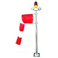 ICAO standard strong S.S 304 heliport wind vane windsock with flood light for airfield helipad Manufactures