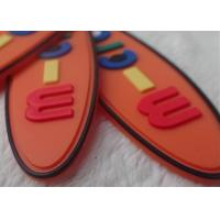Non - Toxic Oval Creative Rubber Logo Patches For Garments / Children Bags Manufactures