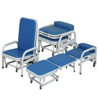 Cold Rolled Steel Hospital Waiting Area Chairs Folding Accompany Chair Space Saving Manufactures