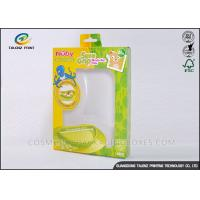 Green / Yellow Foldable Gift Boxes Eco Friendly PVC Window For Children Bowl Manufactures