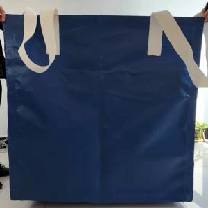 Square Waterproof Recycled Jumbo Bag Flat Bottom / Side Discharge Design 500kg - 1500kg Manufactures