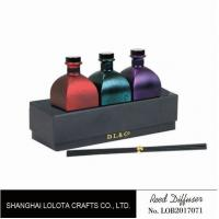 Sweet Smelling Home Reed Diffuser Set Customized Color With Rattan Stick Manufactures