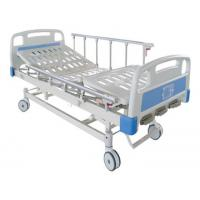 Three function Manual Patients Adjustable Bed Hospital Furniture With Central lock Manufactures