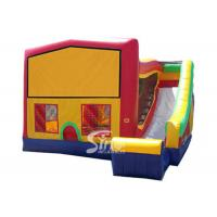 PVC Tarpaulin Inflatable Bounce Houses With Slide Multifunctional Manufactures