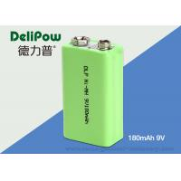 Rapid Charge 180mAh 9V Rechargeable Nimh Batteries For Industrial Manufactures