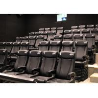 Customized Environmental 4D Cinema Equipment / Electric 4D Motion Seats Manufactures