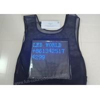Buy cheap Waistcoat vest led display screen for advertising promotion , P3.75 / P3.91 / P4 from wholesalers