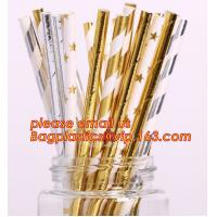 biodegradable gold stamping paper straw,colour disposable wholesale drinking biodegradable paper straw bagplastics pac Manufactures