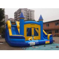 Commercial inflatable bouncy castle with double slide and removable banner Manufactures