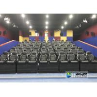 Black 9D Movie Theater Dynamic Electric For Commercial Shopping Mall And Amusement Attraction Manufactures