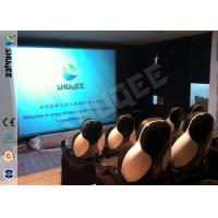5D Durable Movie Cinema Motion Chair 2 Seats / set With Vibration / Jet And Shift Manufactures