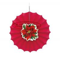Buy cheap Christmas Home Decorations Paper Fan Round Folding Fans Hanging Party from wholesalers