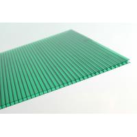Anti Fire Green Plastic Corrugated Roofing Sheets , Polycarbonate Wall Panels Manufactures