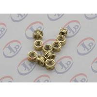 OEM ODM CNC Machining Parts , Swiss Lathe Turning Brass Knurled Nuts with M5 Thread Manufactures