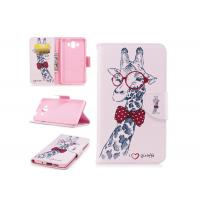 Lovely Giraffe Card Pocket Phone Case , Cell Phone Wallet Case For Huawei Manufactures