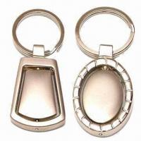 Metal Keychain for Promotional Gifts, Nickel-free, Available in Various Designs, Sizes and Colors Manufactures