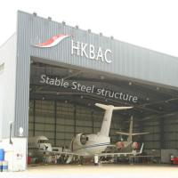 Prefabricated Wide Span Steel Buildings for Hangar with stable steel structure Manufactures