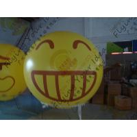 Amazing Round Inflatable Advertising Balloon Attractive Smile Design Manufactures