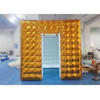 Gold Inflatable Photo Booth 2.5 X 2.5 X 2.5 M Two Doors CE Approved Manufactures
