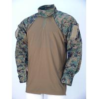 Breathable Wear Resistant Desert Camo Tactical Combat Shirt Woodland For Military Manufactures