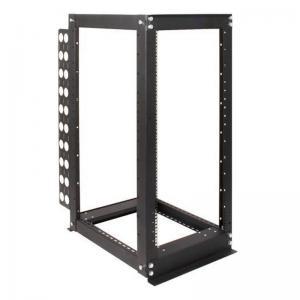 Adjustable 4 Post Relay Rack , Open Frame 24U Wall Mount Server Rack For Telecom Room Manufactures