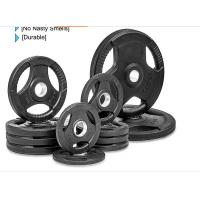 Buy cheap Rubber Weight Plates With Three Handles , 2.5-60kg Free Weight Plates from wholesalers