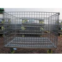 Wire Mesh Container with Wheel,Removable Mesh Container,5.0-7.0mm,5x10cm Manufactures