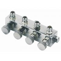 High Durability Airbrush Spare Parts , 4 Way Airbrush Manifold Replacement A9-4