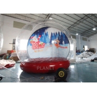 4M 5M Inflatable Bouncing Snow Globe Photo Booth With Blower Manufactures